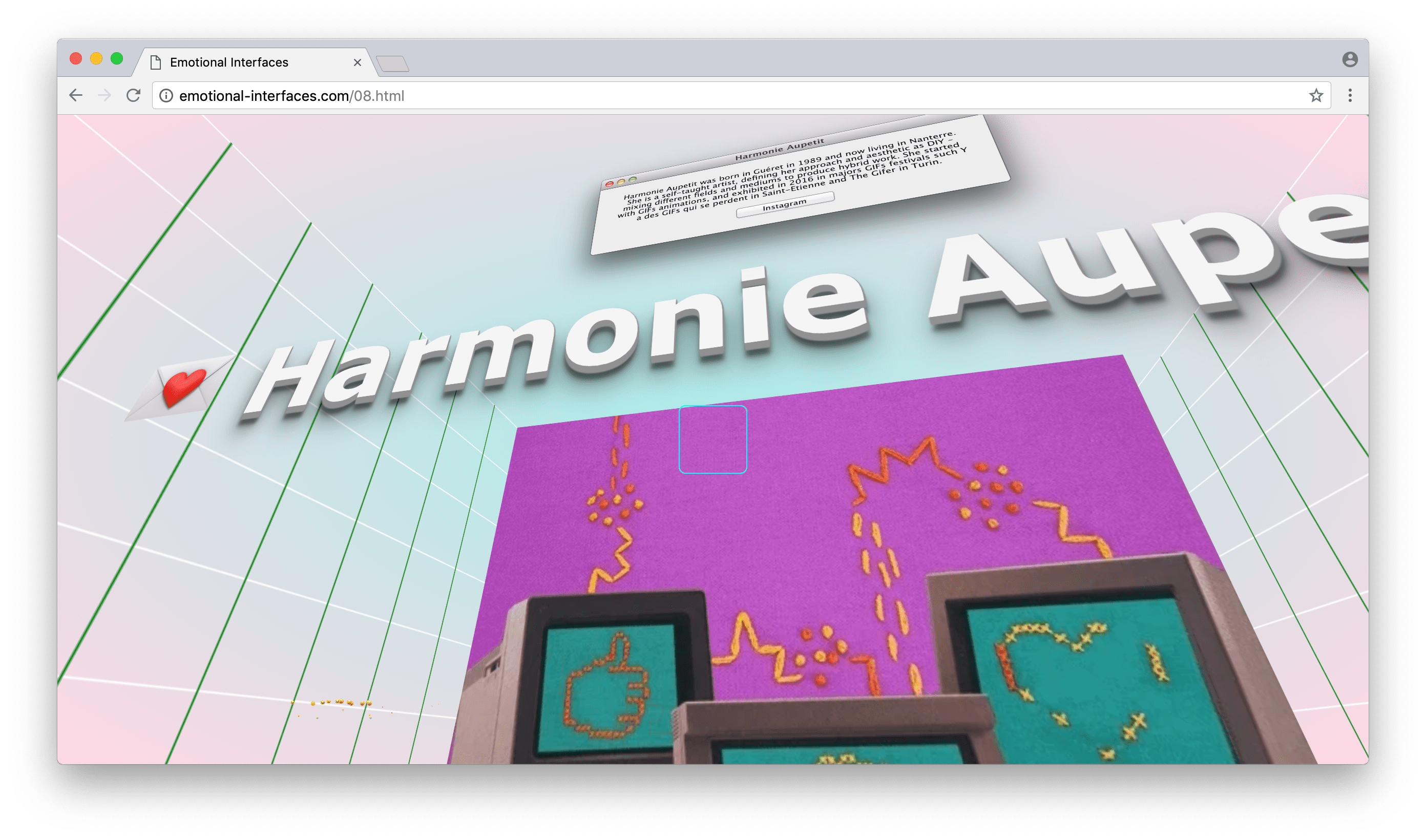 Harmonie Aupetit at Emotional Interfaces' online exhibition